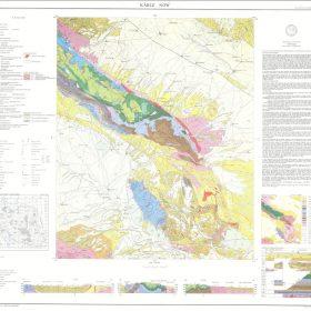 نقشه زمین شناسی کاریز نو - خراسان رضوی - دانلود نقشه زمین شناسی