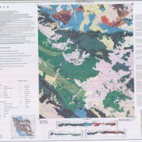 نقشه زمین شناسی کوه دهق - اصفهان - دانلود نقشه زمین شناسی