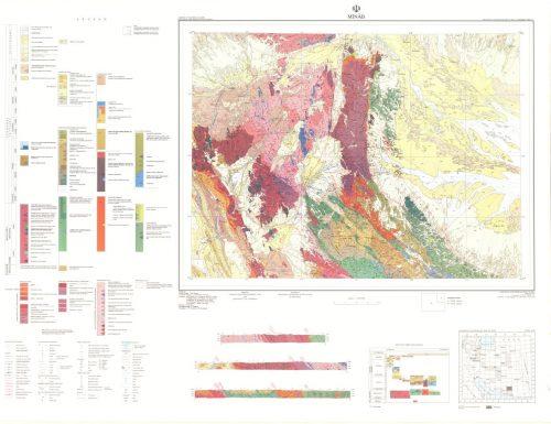 نقشه زمین شناسی میناب - هرمزگان - دانلود نقشه زمین شناسی