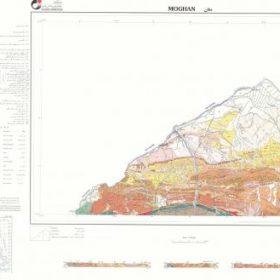 نقشه زمین شناسی مغان - اردبیل - دانلود نقشه زمین شناسی