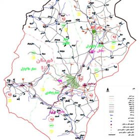 نقشه شهرستان ازنا - لرستان - فایل اتوکدی و PDF