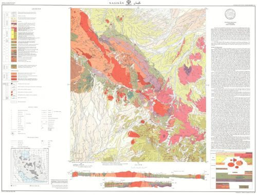 نقشه زمین شناسی نگیسان - کرمان - دانلود نقشه زمین شناسی
