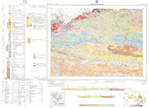 نقشه زمین شناسی نیکشهر - سیستان و بلوچستان - دانلود نقشه زمین شناسی