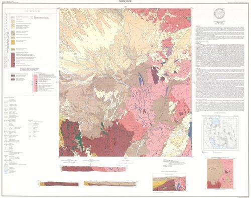 نقشه زمین شناسی نودز - هرمزگان - دانلود نقشه زمین شناسی