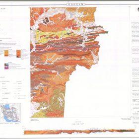نقشه زمین شناسی رهگام - سیستان و بلوچستان - دانلود زمین شناسی
