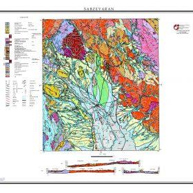 نقشه زمین شناسی سبزواران - کرمان - دانلود نقشه زمین شناسی