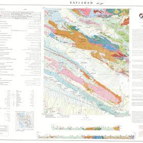 نقشه زمین شناسی صفی آباد - خراسان شمالی - دانلود نقشه زمین شناسی