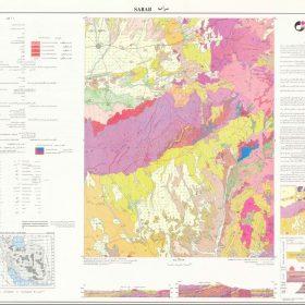 نقشه زمین شناسی سراب - آذربایجان شرقی - دانلود نقشه زمین شناسی