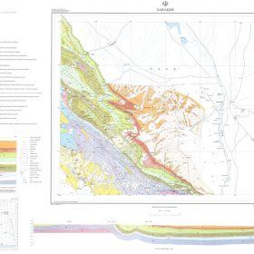 نقشه زمین شناسی سرخس - خراسان رضوی - دانلود نقشه زمین شناسی