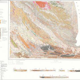 نقشه زمین شناسی سراوان - سیستان و بلوچستان - دانلود نقشه زمین شناسی