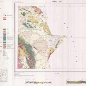 نقشه زمین شناسی شاهرخت - خراسان جنوبی - نقشه زمین شناسی