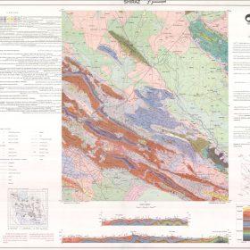 نقشه زمین شناسی شیراز - فارس - دانلود نقشه زمین شناسی
