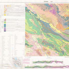 نقشه زمین شناسی سیوند - فارس - دانلود نقشه زمین شناسی