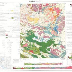 نقشه زمین شناسی سنقر - کرمانشاه - دانلود نقشه زمین شناسی