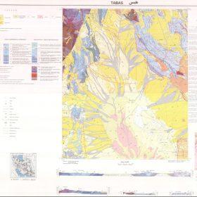 نقشه زمین شناسی طبس - خراسان جنوبی - نقشه زمین شناسی