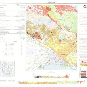 نقشه زمین شناسی تبریز - آذربایجان شرقی - دانلود نقشه زمین شناسی