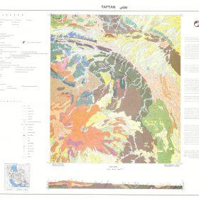 نقشه زمین شناسی تفتان - سیستان و بلوچستان - دانلود نقشه زمین شناسی