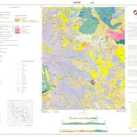 نقشه زمین شناسی تکاب - آذربایجان غربی - دانلود نقشه زمین شناسی