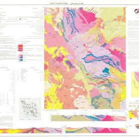 نقشه زمین شناسی تخت سلیمان - آذربایجان غربی - دانلود نقشه زمین شناسی
