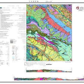 نقشه زمین شناسی طارم - زنجان - دانلود نقشه زمین شناسی