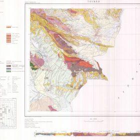 نقشه زمین شناسی تایباد - خراسان رضوی - دانلود نقشه زمین شناسی