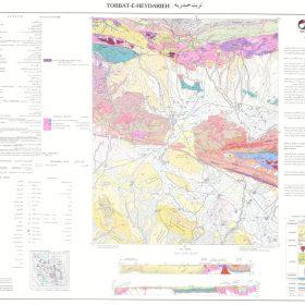 نقشه زمین شناسی تربت حیدریه - خراسان رضوی - نقشه زمین شناسی