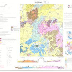 نقشه زمین شناسی تویسرکان - همدان - دانلود نقشه زمین شناسی