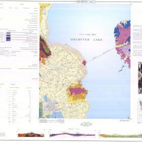 نقشه زمین شناسی ارومیه - آذربایجان غربی - دانلود نقشه زمین شناسی