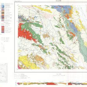 نقشه زمین شناسی یزد - یزد - دانلود نقشه زمین شناسی