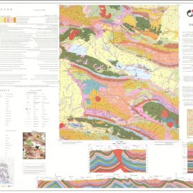 نقشه زمین شناسی زرین دشت - فارس - دانلود نقشه زمین شناسی