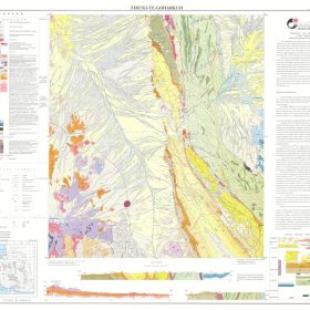 نقشه زمین شناسی زیروکی گوهرکوه - سیستان و بلوچستان - زمین شناسی