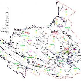 نقشه شهرستان کوهدشت - لرستان - فایل اتوکدی و PDF